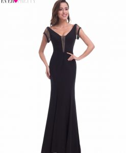 2017 New Sexy Mermaid Backless Evening Dresses Ever Pretty EP07036 Women's V Neck Hollow Out Sleeveless Evening Party Dresses