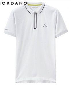 Giordano Men Fast Dry Polo Pique Men Polo Shirt Zip Placket Tops For Men Summer Short Sleeve Camisa Polo Masculina 1