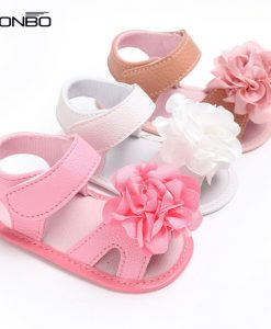 New flower style pu leather Baby moccasins child Summer girls fashion sandals Sneakers baby shoes 0-18 M baby sandals