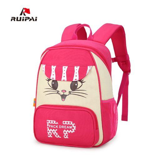 RUIPAI 2017 Canvas Backpack For Teenage Girls School Bags Boys Rucksack Back Pack Canvas Cartoon Printing Backpack For Children 1