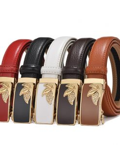 Women's belts genuine leather designer High quality belt women luxury straps for woman fashion automatic buckle belts for Dress 1