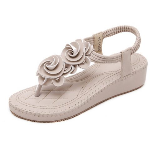 Road Track Fashion Flip Soft Bottom Sand Slippers Anti-skid Slope With Thick Crust Muffin Sandals High-heeled Slip XWA1028-5 1