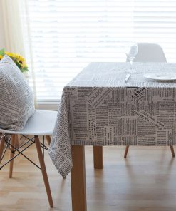 GIANTEX Retro Newspapers Pattern Decorative Table Cloth Cotton Linen Tablecloth Dining Table Cover For Kitchen Home Decor U1001 1