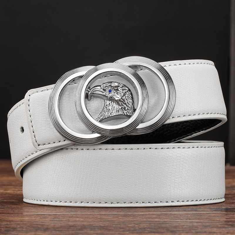 2017 New Brand Designer Belts Men High Quality Genuine Leather Automatic Buckle Belts For Men Luxury Business Casual Waistband 1