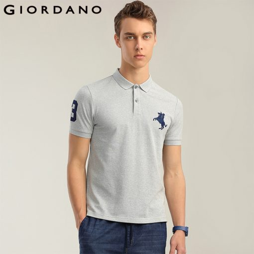Giordano Men Polo Shirt Men Napoleon Embroidery Polo Homme Pattern Polo Camisa Shirt Masculina New Arrival Polo Shirts Male