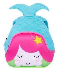 NOHOO Cartoon Mermaid Children School Bags Cute Waterproof School Backpack for Girls Toddler Book Bag Kindergarten Rucksacks 1