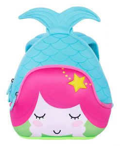NOHOO Cartoon Mermaid Children School Bags Cute Waterproof School Backpack for Girls Toddler Book Bag Kindergarten Rucksacks 1