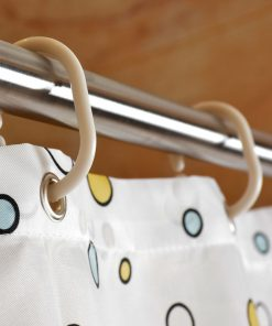 GIANTEX Fish Pattern Polyester Bathroom Waterproof Shower Curtains With Plastic Hooks U1029 1