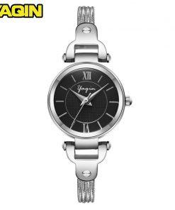 YAQIN brand quartz watch women fashion watch ladies casual wear luxury gold ladies diamond waterproof watch Reloje Mujer