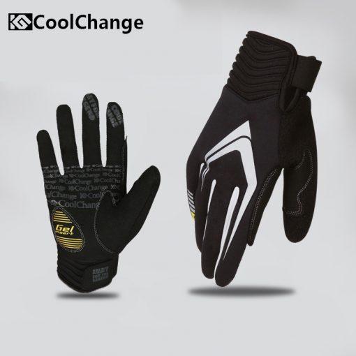 CoolChange 2016 Touch Screen Windbreak Warm   Cycling Glove For Man Woman MTB Road Motocross Glove Mountain Bike Bicycle Gloves 1