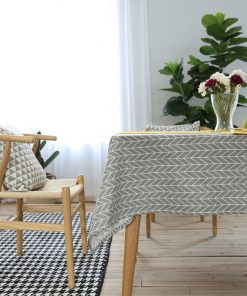 GIANTEX Pastoral Arrow Pattern Decorative Table Cloth Cotton Linen Tablecloth Dining Table Cover For Kitchen Home Decor U1099 1