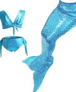 Zeemeerminstaart Met Monofin Voor Kids Swimwear Girls Mermaid Tails Costume Children Swimmable Monofin Swimming Set Swimsuit   1
