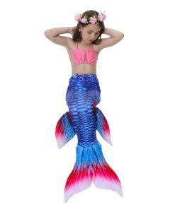 Kids Girls Mermaid Tail Csoplay Costume Children Ariel Princess Bikini Swimsuit Can Wear Mermaid Tail Monofin For Swimming 2018 1