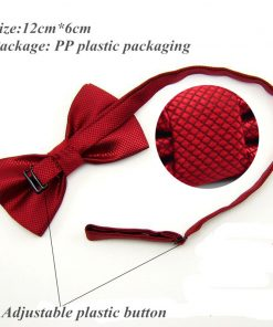 20 Colors  Solid Fashion Bowties Groom Men Colourful Plaid Cravat gravata Male Marriage Butterfly Wedding Bow ties 1