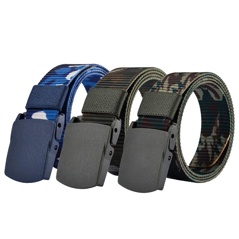 SAN VITALE Automatic Buckle Nylon Belt Male Army Tactical Belt Mens Military Waist Canvas Belts Cummerbunds High Quality Strap 1