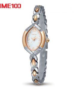 TIME100 Women Watch Quartz simple style Gold Silver watch Crystal Dial Rhinestone Alloy Strap Women Watches relogio feminino