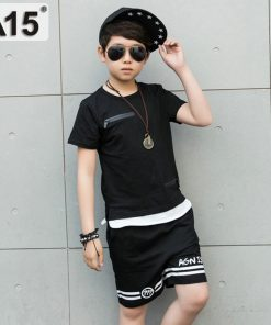 A15 Boys Set Summer 2018 Boys Clothes Set Boys Clothing Set Children Sport Set Kids Casual Clothes Teens 6 8 10 12 14 16 Year 1