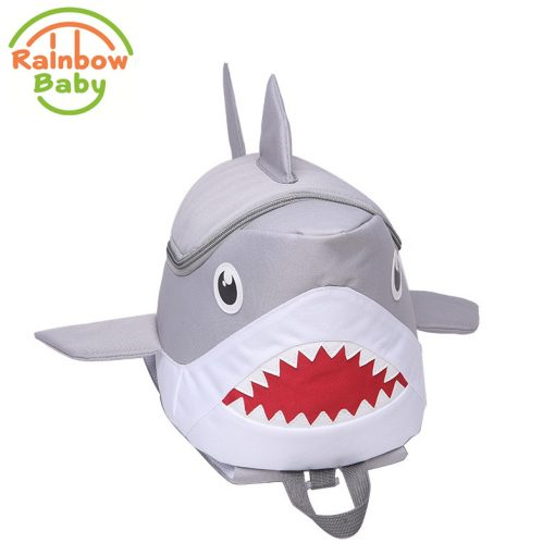 Rainbow Baby 3D Model Shark Kids & Babys Bags Anti Lost School Bags for 2-8 Years Boys and Girls Bagpack Waterproof Backpack 3