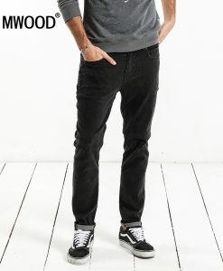 SIMWOOD Brand Jeans Men 2018 Spring New Design Jeans Slim Fit High Quality Plus Size Black Denim Pants Free Shipping NC017062
