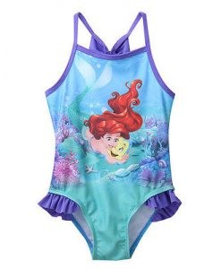 Hirigin 2017 Girls Swimwear Mermaid Princess One Pieces Swimsuit Kids Ruffled Swimming Suit For Girl Children Bathing Suit 1