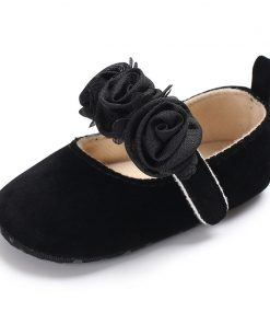 Infant Newborn Soft Sweet Mary Jane Baby Shoes Kids Wedding Party Dress Footwear Children Princess First Walker Baby Girl Shoes 1