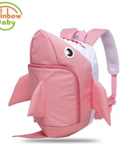 Rainbow Baby 3D Model Shark Kids & Babys Bags Anti Lost School Bags for 2-8 Years Boys and Girls Bagpack Waterproof Backpack 1