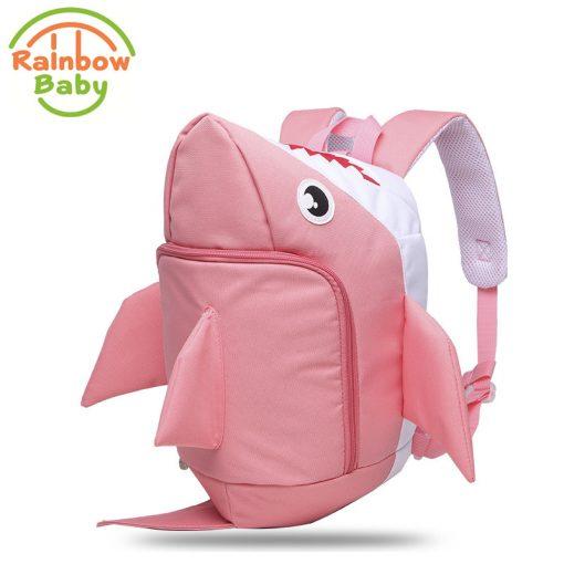 Rainbow Baby 3D Model Shark Kids & Babys Bags Anti Lost School Bags for 2-8 Years Boys and Girls Bagpack Waterproof Backpack 1