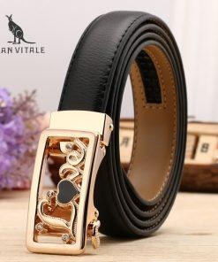 Women Belts Luxury Famous Designer Brand High Quality Genuine Leather Strap Automatic Reversible Buckle Belt for Dress Ceinture