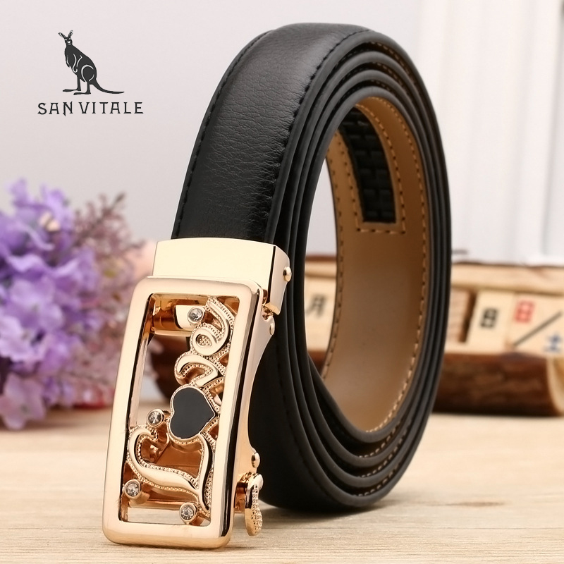 Women Belts Luxury Famous Designer Brand High Quality Genuine Leather Strap Automatic Reversible Buckle Belt for Dress Ceinture