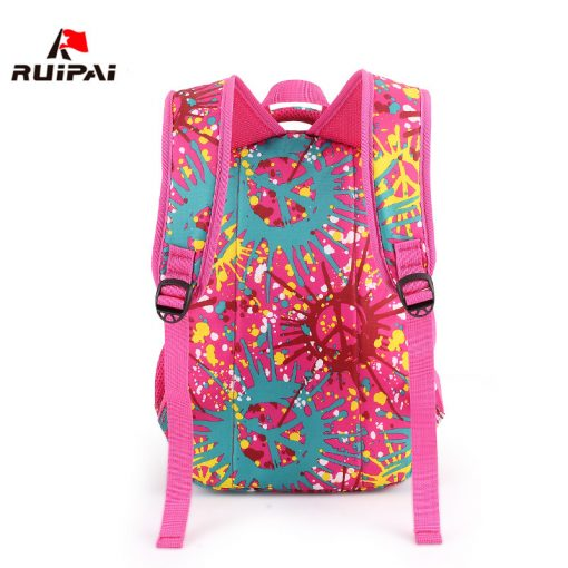RUIPAI Nylon Printing Children Backpacks Orthopedic School Bags for Teenagers Girls Boys Kids Primary Schoolbag Backpack 2