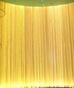 GIANTEX Shiny Tassel Flash Silver Line String Curtain Window Door Divider Sheer Curtain Valance Home Decoration 0.95x1.95m U0604 1