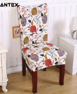 GIANTEX Floral Print Elastic Chair Cover Home Decor Dining Spandex Stretch Chair Cover For Weddings Banquet Hotel Washable U1065