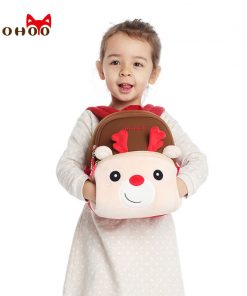 NOHOO Kids Children Backpack Kindergarten Pretty Cartoon Toddler Baby School Bags Gift for Girls School Bags for 3-6 Years Old 1