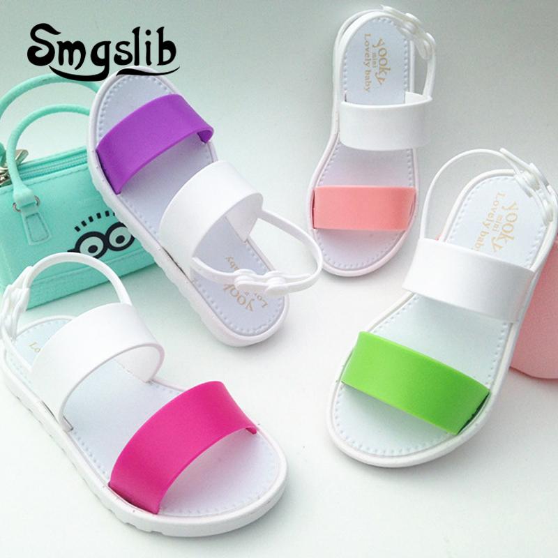 kids shoes Girls boys Jelly Sandals summer Princess Lovely Soft Comfort shoes Toddler Girl Kids Sandals Beach Sandals Kids 1