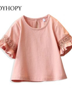 Princess Lace  Kids girls T shirt Half sleeve children t shirts for girl top clothes clothing Summer Spring