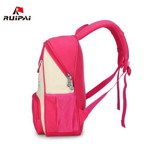 RUIPAI 2017 Canvas Backpack For Teenage Girls School Bags Boys Rucksack Back Pack Canvas Cartoon Printing Backpack For Children 2