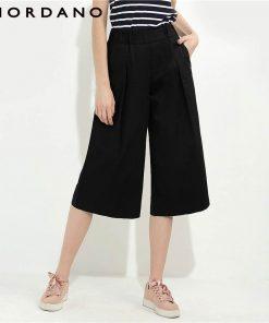 Giordano Women Pants Wide Leg Pants Woman Fashion Loose Trousers Female Mid Rise Pantalon Femme Cropped Calca Feminina