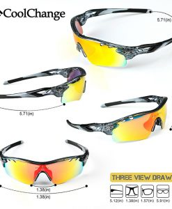 CoolChange Polarized Cycling Glasses Bike Outdoor Sports Bicycle Sunglasses For Men Women Goggles Eyewear 5 Lens Myopia Frame 1