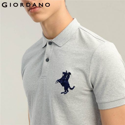 Giordano Men Polo Shirt Men Napoleon Embroidery Polo Homme Pattern Polo Camisa Shirt Masculina New Arrival Polo Shirts Male 3