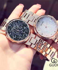 GUOU Watch Top Luxury Exquisite Quartz Women Watches Fashion Diamond Steel Bracelet Women's Watc Clock saat relogio feminino 1