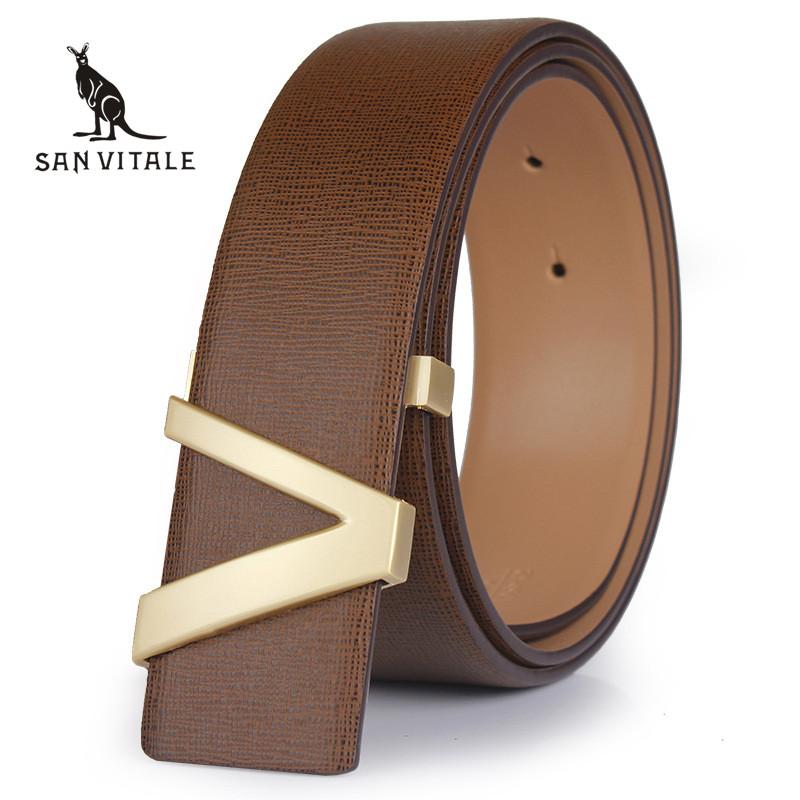Belt 2016 Hot sale Fashion Cowhide Leather men belt Designer Luxury Famous Brand High quality buckle men Belts for business men