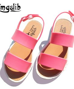 kids shoes girls sandalias summer charm jelly shoes toddlers Baby Soft pvc rubber Comfortble Beach flat heel Sandals stroller