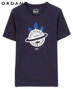 Giordano Men T Shirt Men ECO Printed Crewneck Tee Men T Shirt Environmental Protection Tshirt Men Cotton Soft T-shirt Summer 1