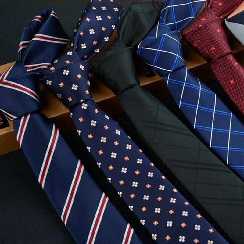 high quality man's tie 6 cm skinny ties Wedding dress neckties for men plaid cravate business pour homme rouge slim 2017