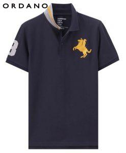 Giordano Men Pique Polo Napoleon Embroidery Polo Shirt Men Brand Man's Clothing Lycra Tshirt For Men 1
