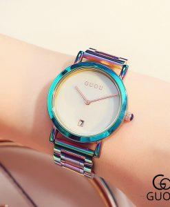 GUOU Watch Women Fashion Colorful Stainless Steel Ladies Watch Luxury Exquisite Women's Watches reloj mujer relogio feminino 1
