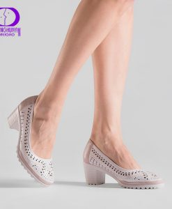 2017 Summer Style Hollow Out Sandals Soft Leather Women Shoes Pointed Toe High Heel Sweet Woman Pumps Plus Size Retro Shoes 1