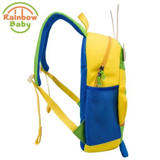Rainbow Baby Small Bee Kids Babys Bags Backpack Anti-lost Rope Ultra-Light Waterproof Wearable Breathable Boys Girls School Bags 2