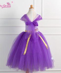 Children Clothes Baby Girl Dress Princess Sofia Costume Girls Kids Birthday Party Bling Fancy Purple Tutu Dress Clothing 1