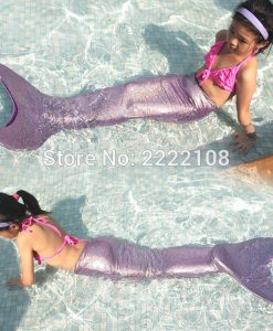 Myle factory christmas gifts for girls Swimmable Mermaid Tail W Monofin Sparkle mermaid tail Halloween Costume Kids Children 1